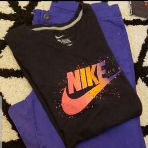 Nike 🏀 splatter logo men's regular tee